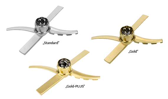 """PacoJet Pacossier®-Flügel """"gold"""" gehärtet mit Titannitrid für PacoJet 2 und Junior"""