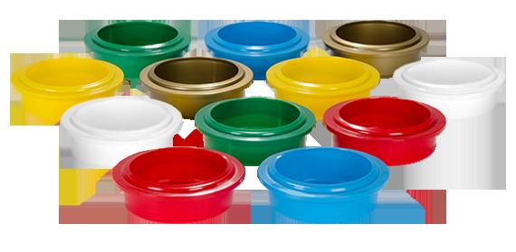 PacoJet Becherdeckel farbig sortiert (Set á 10 Stk)